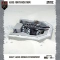 Dust Tactics - Axis: Heavy Laser Bunker/Strongpoint (Axis Fortification)