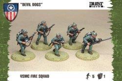 画像1: Dust Tactics - Allies: USMC Fire Squad (Devil Dogs)