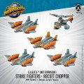 Monsterpocalypse Strike Fighters & Rocket Chopper G.U.A.R.D. Unit (resin)