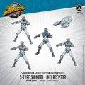 Monsterpocalypse S-Type Shinobi & Interceptor Shadow Sun Syndicate Unit (metal/resin)