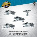 Monsterpocalypse Sun Fighter and Shadow Gate Shadow Sun Syndicate Unit (metal/resin)