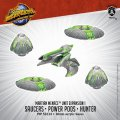 Monsterpocalypse Saucers, Power Pods & Hunter - Martian Menace Units (resin)