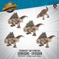 Monsterpocalypse Carnidon & Spikodon - Terrasaur Units (metal/resin)