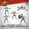 Monsterpocalypse: Shinobots, Shinobot Gunner, UCI Jet - Uber Corp International Unit (metal/resin)