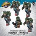 Monsterpocalypse: Ape Bombers, Elite Ape Bomber, Command Ape - Empire of the Apes Units (metal)