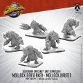 Monsterpocalypse: Mollock Brutes & Mollock Berserker – Subterran Unit (metal)