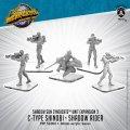 Monsterpocalypse: C-Type Shinobi and Shadow Rider – Monsterpocalypse Shadow Sun Unit (metal)