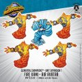 Monsterpocalypse: Fire Kami & Air Avatar ? Elemental Champions Unit (metal)