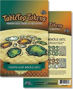 画像1: テーブルトップトークン:TABLETOP TOKENS TREES AND ROCKS SET