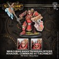 [Khador] - Man-O-War Shocktrooper Officer Command Attachment (resin/metal)