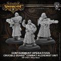 Warmachine: (Golden Crucible) Containment Operatives – Crucible Guard Combat Alchemist Unit (x3)