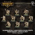 [Mercenary] - Hammerfall High Shield Gun Corps Rhulic Unit (10) BOX 【メーカー直販のみ 在庫限り】