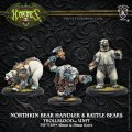 Hordes Trollbloods: Northkin Bear Handler & Battle Bears Unit (resin/metal) BOX 2017年11月発売