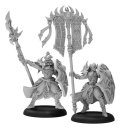 [Skorne] - Praetorian Karax Commander & Standard Command Attachment (metal/resin)