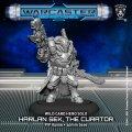 Warcaster: Harlan Sek, The Curator – Wild Cards Hero Solo (metal)
